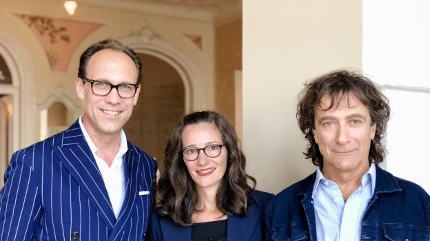 Die Luzerner Unternehmerin Anne-Catherine Lüke und der St. Galler Clown Pic