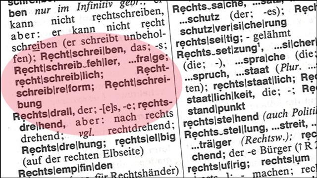 Rechtschreibung - der ewige K(r)ampf