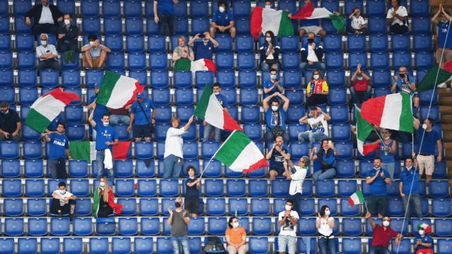 Euro 2020: Il fan da l'Italia Serafin Lehmann avant il final