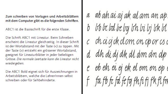 Schreiben wie am «Schnüerli» - unsere Handschrift