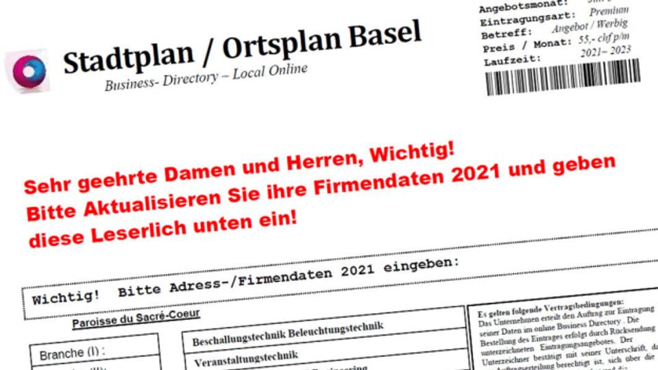 Falsche Adressverwalter haben es auf Schweizer KMU abgesehen