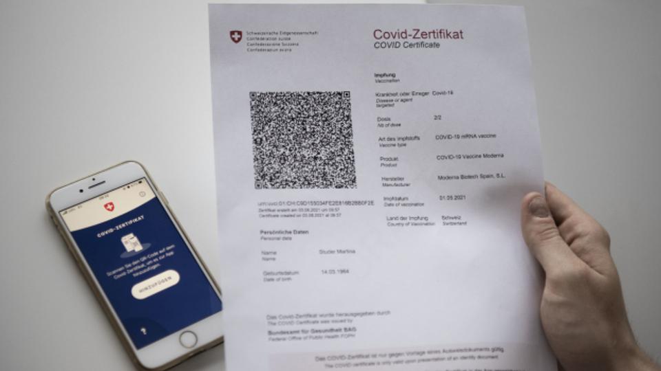 Saftige Rechnung für ein Covid-Zertifikat